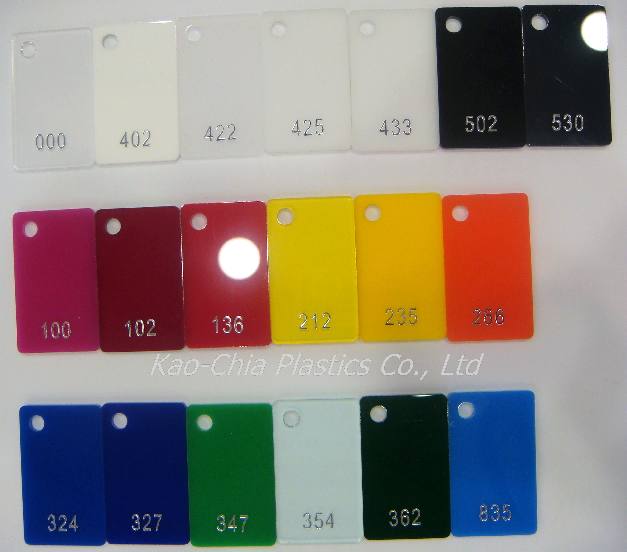 Colored cast acrylic sheet - Cast Acrylic Sheet Standard Color